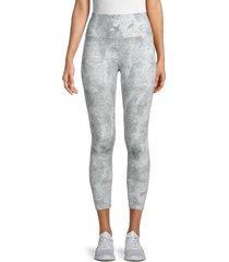 workshop women's tie-dye leggings - light grey - size m
