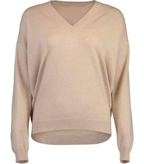 cashmere d-ring v-neck sweater
