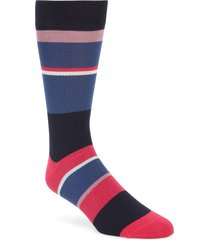 men's ted baker london stripe socks, size one size - pink