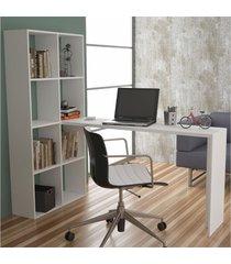mesa para escritório be 38 branco - brv móveis