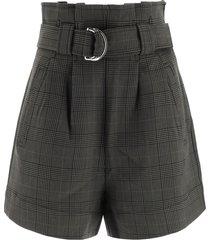 ganni tartan shorts