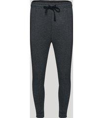 calça de neoprene masculina jogger com bolsos cinza mescla escuro