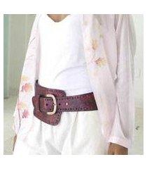 leather belt, 'red phenomena' (indonesia)
