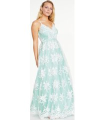 say yes to the prom juniors' embroidered mesh gown, created for macy's