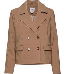 u7048, jacket zomerjas dunne jas bruin saint tropez