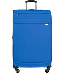 maleta de viaje mediana naples azul - explora