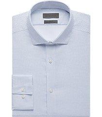 calvin klein blue dot slim fit dress shirt