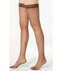 hanes women's silk reflections silky sheer thigh highs 720