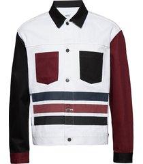 calypso denim jacket jeansjack denimjack multi/patroon wesc