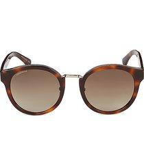 longchamp 51mm round sunglasses - blue tortoise
