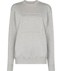 opening ceremony embossed logo cotton sweatshirt - grey