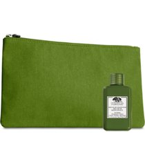 receive a free 50 ml dr. andrew weil mega-mushroom treatment lotion and cosmetic bag with any $55 origins purchase