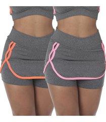 kit com 2 shorts saia fitness nicole