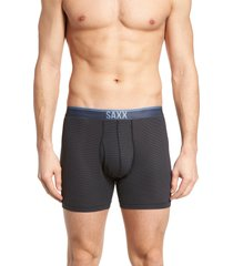 saxx quest pin dot mesh boxer briefs, size x-large in black at nordstrom