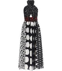 dolce & gabbana patchwork silk dress