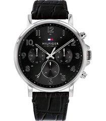 reloj tommy hilfiger 1710381 negro cuero