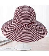 sombrero para mujer, l sol del verano del las sombrero-rojo