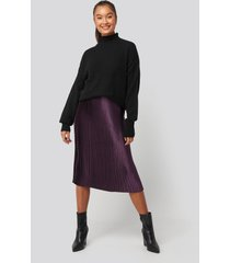 na-kd trend shiny pleated skirt - purple