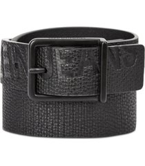 calvin klein jeans big boys embossed logo leather belt