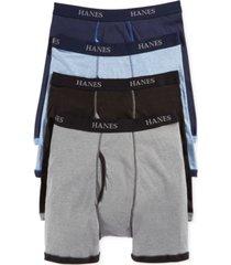 hanes platinum men's underwear, ringer boxer brief 4 pack
