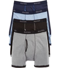 hanes platinum men's underwear, ringer boxer brief 4 pack