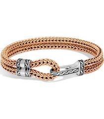 men's john hardy hook station sterling silver & bronze bracelet