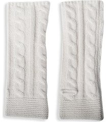 cabled cashmere arm warmers