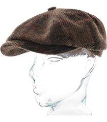 stetson hats wool check flat cap |multi| 6840318-275