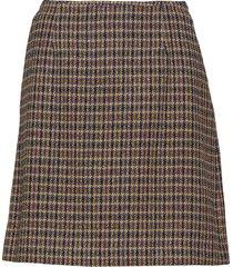 belle checked skirt kort kjol blå morris lady