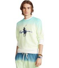 polo ralph lauren men's big pony dip-dyed spa terry sweatshirt