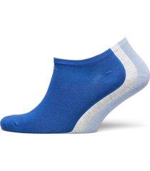 ck women liner 3p logo chloe footies träningssockor/ankle socks blå calvin klein