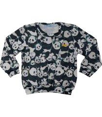 casaco infantil masculino estampa panda