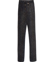 balmain black lurex trousers