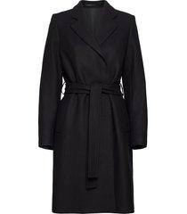 kaya coat wollen jas lange jas zwart filippa k