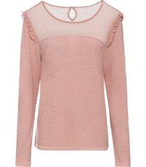 maglione con mesh (rosa) - bodyflirt