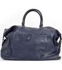 bolso de viaje bolsillo azul mailea