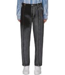 x levi's side belt detail gradient centre trim denim jeans