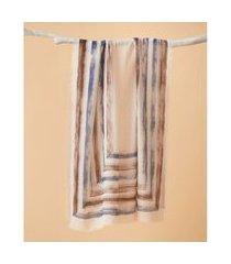 lenço estampado - lenço tapajós cor: marrom - tamanho: único