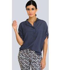 blouse alba moda rookblauw