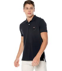 polo azul oscuro tommy hilfiger