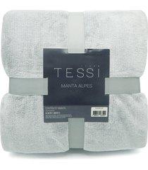 manta cationic blanket casal 1,80m x 2,20m 300g/m² - tessi - cinza