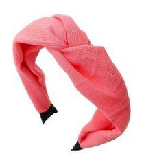 tiara piuka lenço bia linho pink