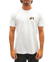 camiseta natural art words - branco m - masculino