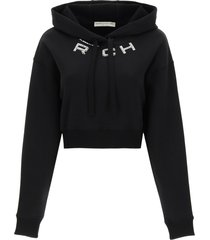 alessandra rich cropped hoodie with logo