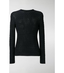 zanone cable knit sweater