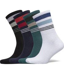jaccore blue tennis sock 4 pack jr underwear socks regular socks multi/mönstrad jack & j s