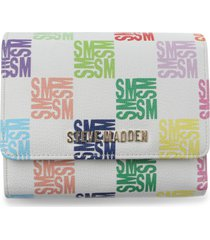 steve madden vick trifole faux leather wallet in white at nordstrom