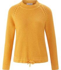 trui van 100% katoen met staande kraag van looxent geel