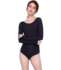 body arys swimwear manga longa preto