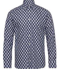 watercolour dots skjorta casual blå eton